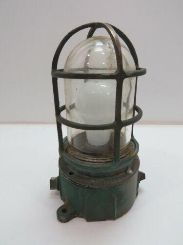 Antique Bronze Pauluhn Passage Bulkhead Ship Light -(C2B856)
