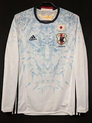 2016-17 JAPAN Away Jersey Soccer Shirt adidas O(Japan Size) *AUTHENTIC* image