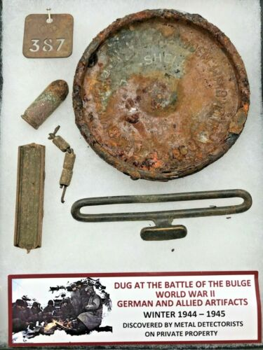 RARE DUG ARTIFACTS FROM BATTLE OF THE BULGE - WW2 - GRMAN & ALLIED ARTIFACTS