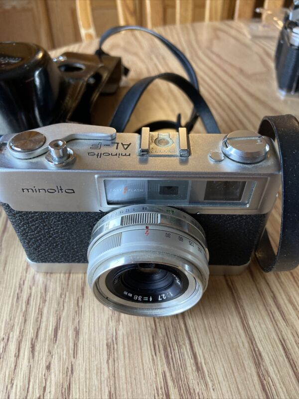 Minolta AL-F Rangefinder Film Camera w/ 38mm f2.7 Lens & Case