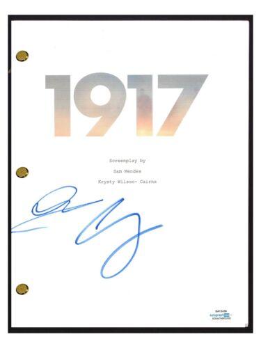 George MacKay & Dean-Charles Chapman Signed Autograph 1917 Movie Script ACOA COA