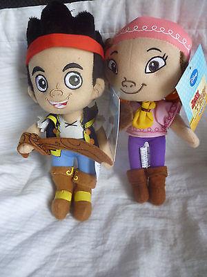 DISNEY JAKE AND THE NEVERLAND PIRATES - Set of 2 Plush Soft Toys Doll BRAND NEW