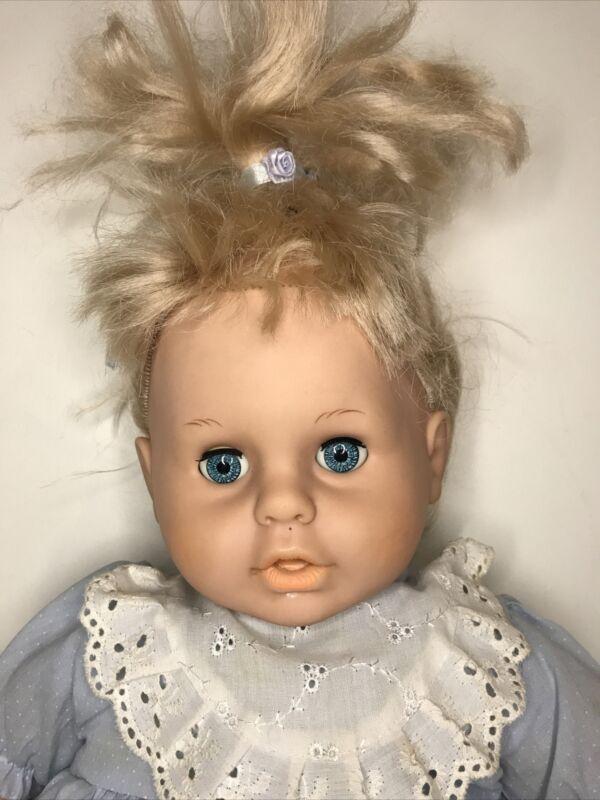 Plastic / Plush Body Cute Baby Girl Doll Rolling Eyes Lucky Star 57cm