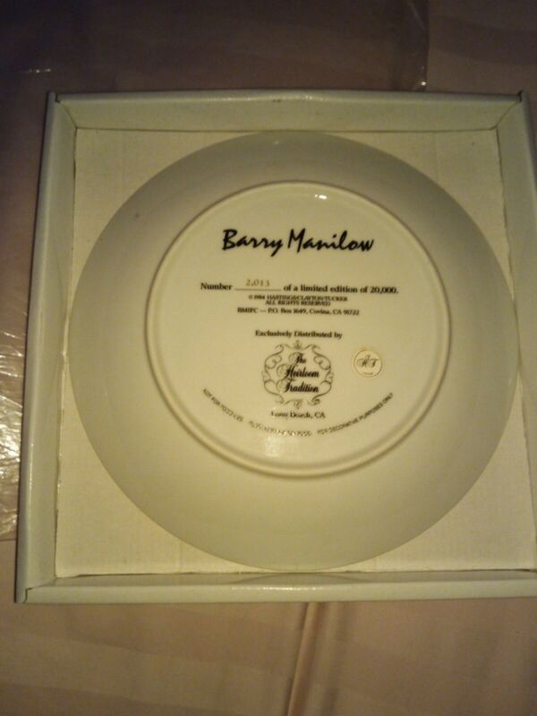 Barry Manilow Collectible Heirloom Plate