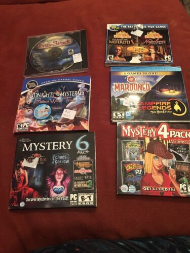 Computer Games - 6 DIFFERENT MYSTERY COMPUTER GAMES