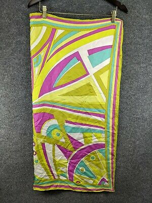Vintage Scarf Styles -1920s to 1960s Emilio Pucci Vintage Square Abstract Print Silk Scarf $74.99 AT vintagedancer.com