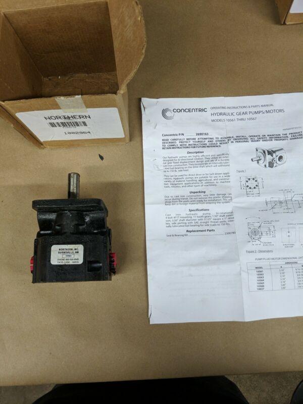Cu. In.//Rev. Hydraulic Gear Pump with 1.6 Displacement
