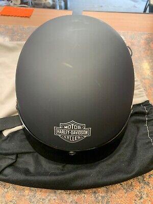 Harley Davidson Black Motorcycle Half Helmet Dot Certified. Size XL - Q21