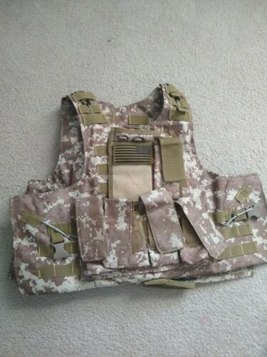 Military/Airsoft Vest and Desert Scarf