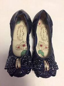 Gorgeous leather elastic saphire blue flat ballet shoes round toe sz5 Canley Vale Fairfield Area Preview