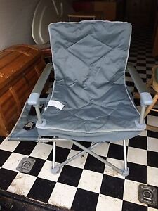 4 lawn chairs with cup holders