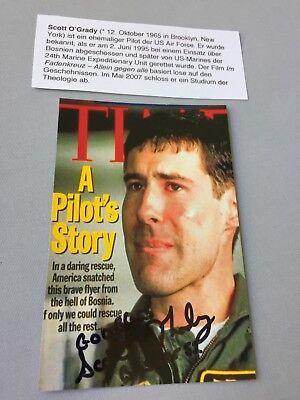 SCOTT O'GRADY 'Im Fadenkreuz' Pilot USA signed Foto 10 x 15 Autogramm selten!