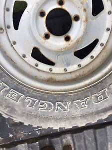 """Ford? 2 5/8"""" o/c 2 rims & tires"""