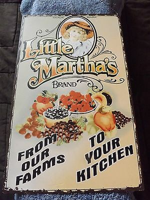LITTLE MARTHA'S BRAND FROM OUR FARMS TO YOUR KITCHEN Farmstand Metal Sign