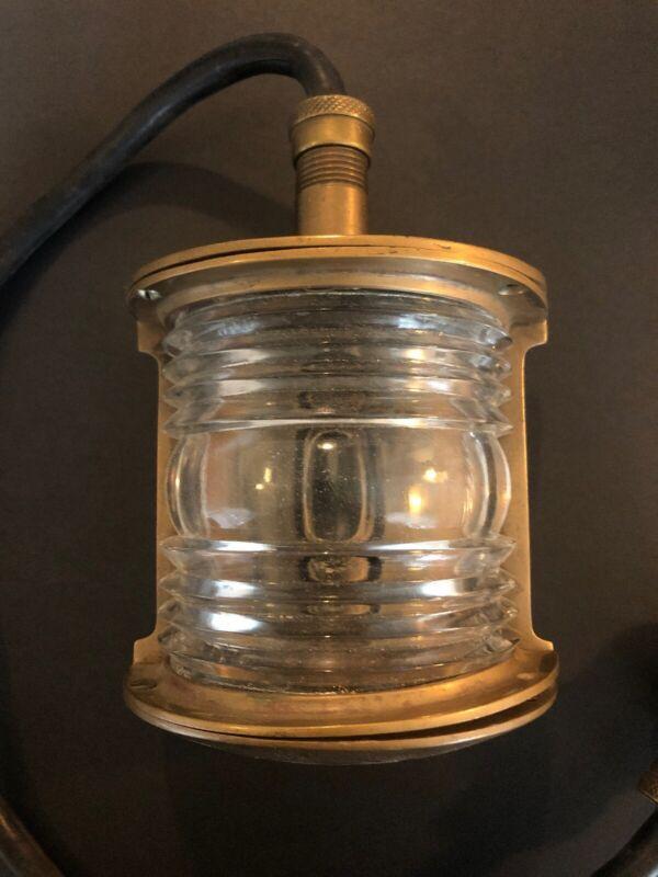 Vintage PERCO Brass Maritime Nautical Navigation Starboard Corner Light -CA