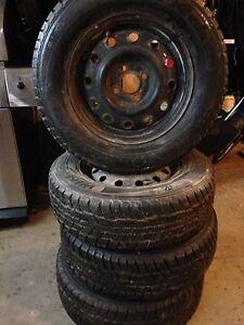 Nexen winter guard winter tires on 4x100mm rims