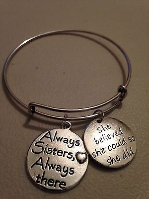 Friend Bracelet Always Sisters Always There She Believed She Could So She Did
