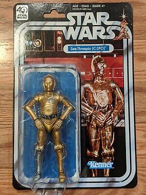 Star Wars The Black Series 40th Anniversary C-3PO See-Threepio NEW Case Fresh