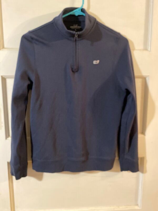 Vineyard Vines Boy Large 16 Navy Pullover Sweater