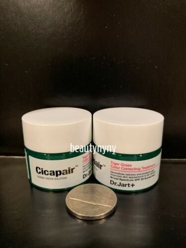 2 x Dr. Jart+ Cicapair Tiger Grass Color Correcting Treatment SPF 30.  5ml each