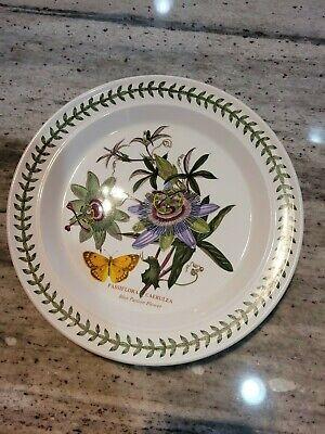 """VTG Portmeirion Botanic Garden """"BLUE PASSION FLOWER"""" 10.5"""" Dinner Plate"""