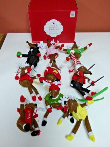 Pottery Barn Kids - Set of 9 Reindeer Ornaments