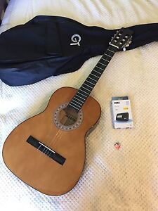 Acoustic guitar and electronic tuner Garfield Cardinia Area Preview
