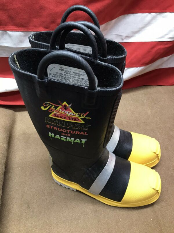 Thorogood Hellfire Structural And Hazmat Boots 807-6003 Size 9
