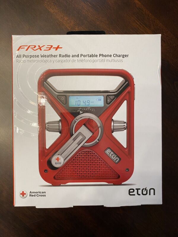 Eton American Red Cross Emergency NOAA Weather Radio, Solar and Hand Crank Power