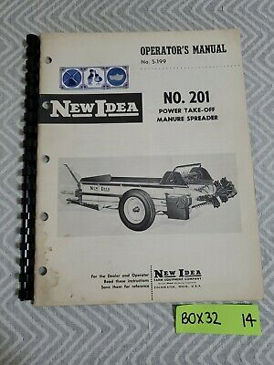 Original New Idea No. 201 Manure Spreader Operators Parts Manual S-199