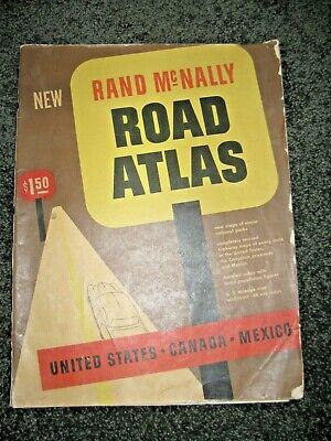Vintage (1954) Rand McNally Road Atlas Maps 112 pg - US Mexico Canada