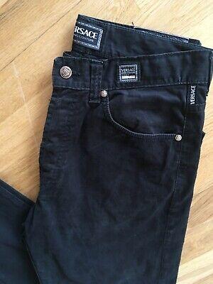 Mens Versace Couture Jeans Black W34 L32, 100% Genuine
