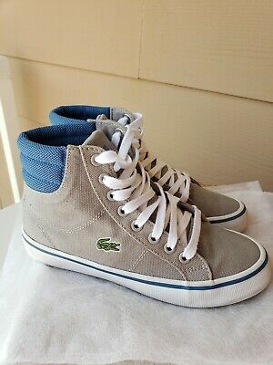 Lacoste Gray shoes  kids size 13.5