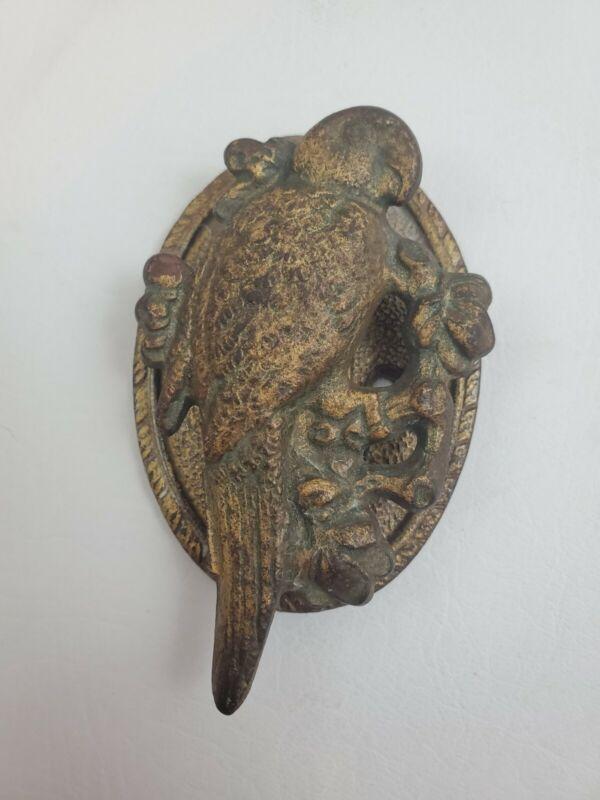 Vintage Antique Hubley Parrot Bird Cast Iron Door Knocker