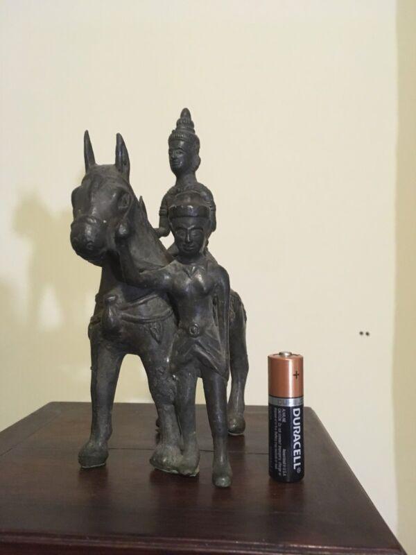 antique bronze warrior horse statue Thailand