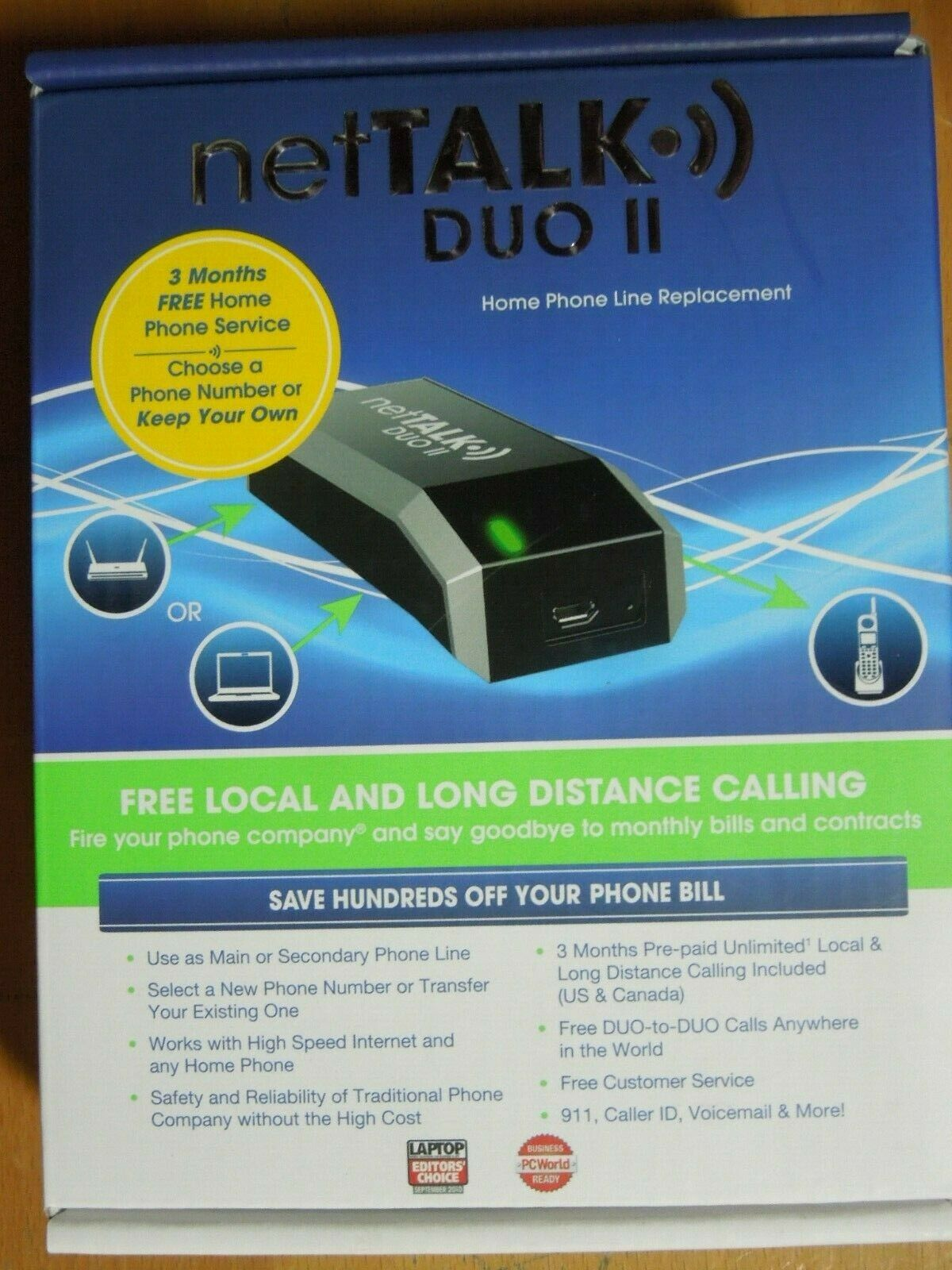 netTalk Duo II VoIP Device Home Phone Line Replacement BRAND