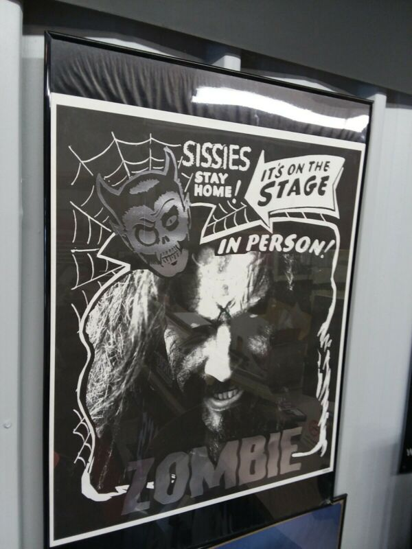 Rob Zombie Sissies Stay Home! Art Silver Print Poster 20 x 23 Living Dead #4509