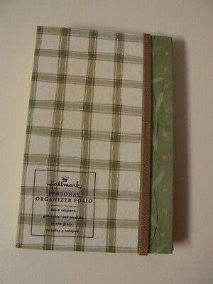 Hallmark Personal Organizer Folio Store Coupons Gift Cards Receipts W Notepad