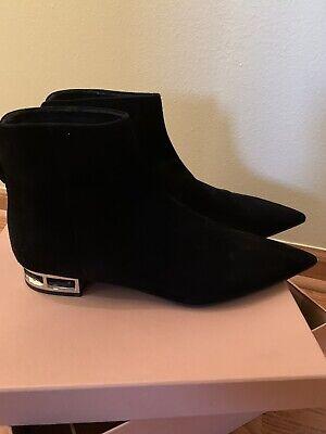 MIU MIU Black Suede Boots Shoes Size 39.5 / US 9.5
