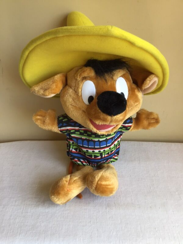 """Vtg Looney Tunes Ace Company Warner Bros Speedy Gonzales Mouse Plush 24"""" Tall"""