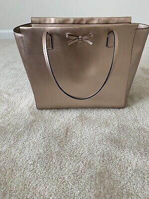 Rose Gold Kate Spade Tote Bow