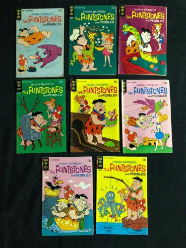 GOLD KEY & CHARLTON COMICS: THE FLINTSTONES  - BRONZE AGE - 10PCS LOT (F-VF)
