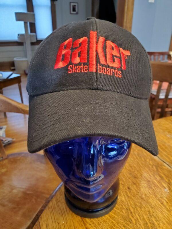 BAKER Skateboards Brand Gun Logo Black Snapback Hat Cap