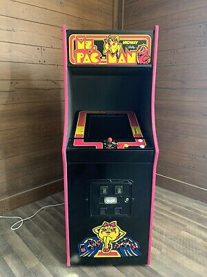 Restored Black Ms. PacMan Arcade Machine, Upgraded