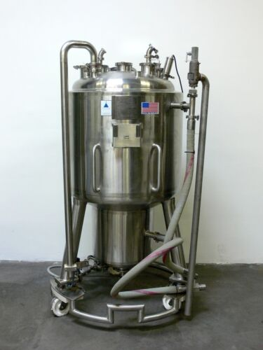 Precision 350 Liter Stainless Steel Jacketed Reactor w/ Load Cells, Rated 45 PSI