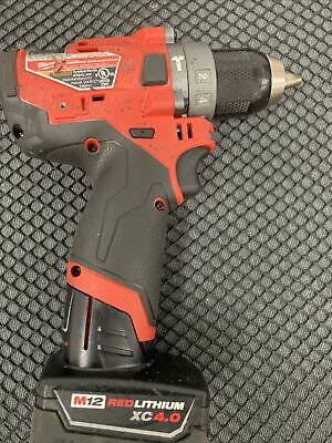 Milwaukee 2504-20-12 Volt Fuel 12brushless Hammer Drill With Battery Used