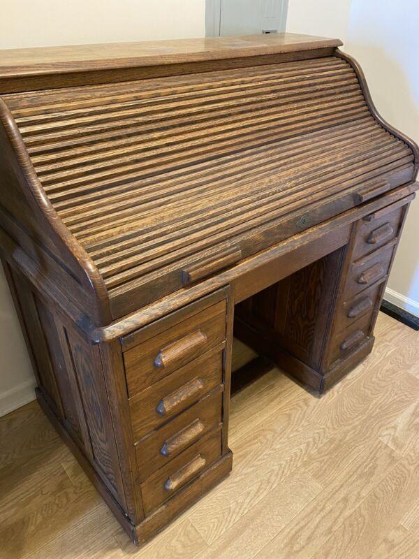 Antique Rolltop Desk - LEBUS circa 1920s good condition