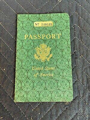 Vintage 1954 US Passport Expired Stamped