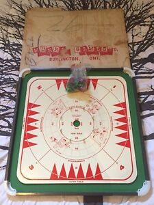Vintage Crokinole Board Game