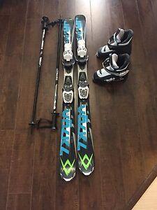 Ski enfant botte 19.5, casque